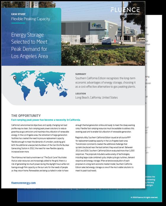 energy storage for flexible peaking capacity
